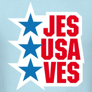 Jesus saves America - Men's T-Shirt