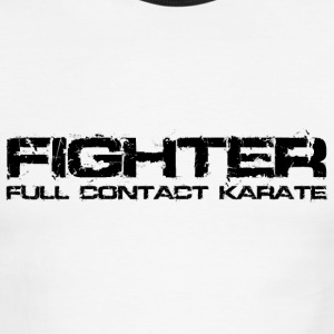 Karate Fighter Black T-Shirts - Men's Ringer T-Shirt