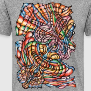 Colorful organic handmade painting - Men's Premium T-Shirt
