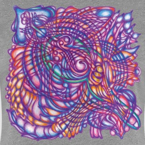 Colorful organic handmade painting - Women's Premium T-Shirt