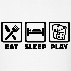 Eat Sleep Domino T-Shirts - Men's T-Shirt