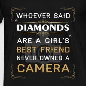 Photography T-shirt -Girl's best friend own camera - Men's Premium T-Shirt