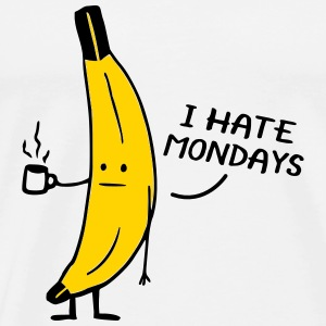 I Hate Mondays Banana T-Shirts - Men's Premium T-Shirt