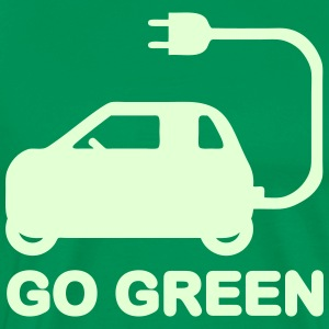GO GREEN ~ DRIVE ELECTRIC VEHICLES T-Shirts - Men's Premium T-Shirt