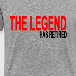 the_legend_has_retired_tshirts - Men's Premium T-Shirt