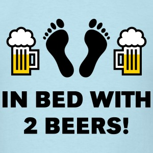 In Bed With Two Beers! T-Shirts - Men's T-Shirt