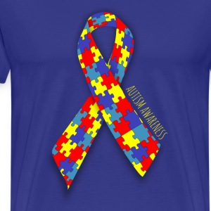 Autism Awareness Ribbon - Men's Premium T-Shirt