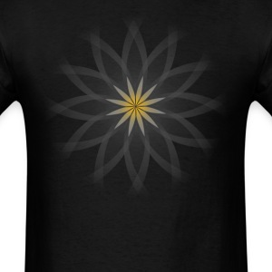 Lotus flower -transparent, on black - Men's T-Shirt