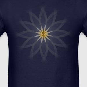 Lotus flower —transparent, on blue - Men's T-Shirt