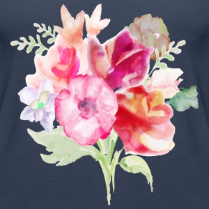 Watercolor Bouquet - Women's Premium Tank Top