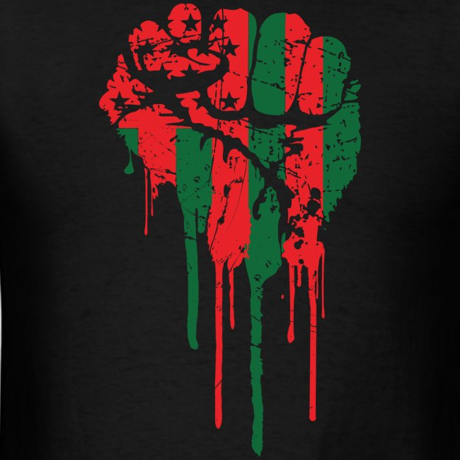 Redblackandtees Black Power Fist Tee Mens T Shirt