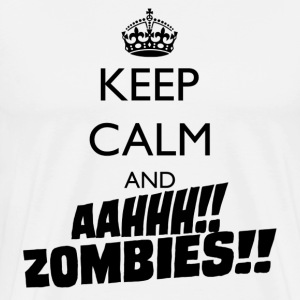 Keep Calm Zombies - Men's Premium T-Shirt