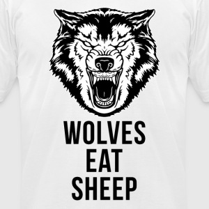 Wolf - Wolves Eat Sheep T-Shirts - Men's T-Shirt by American Apparel