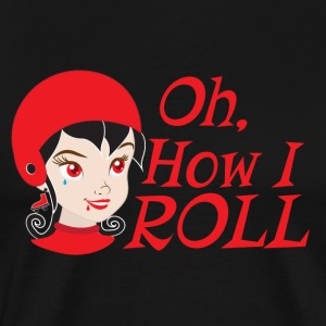 oh how i roll DERBY GIRL T-Shirts - Men's Premium T-Shirt