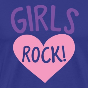 girls rock! with cute love heart T-Shirts - Men's Premium T-Shirt