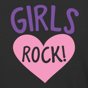 girls rock! with cute love heart T-Shirts - Baseball T-Shirt