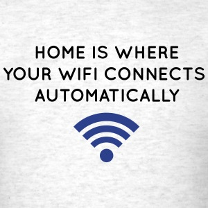 home- where wifi connects T-Shirts - Men's T-Shirt