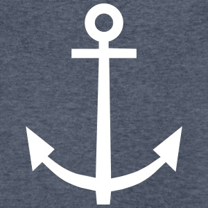 Anchor T-Shirts - Men's V-Neck T-Shirt by Canvas