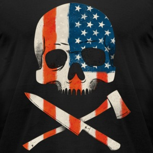 Usa Chef skull and crossbones T-Shirts - Men's T-Shirt by American Apparel