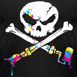 Paint Pirate T-Shirts - Men's T-Shirt by American Apparel