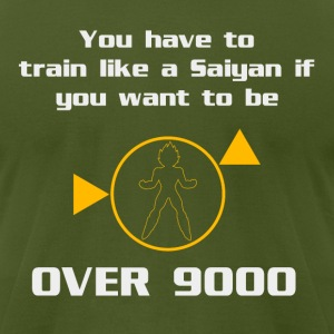 Train To Be Over 9000 T-Shirts - Men's T-Shirt by American Apparel