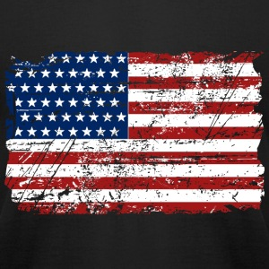 USA Flag - Vintage Look T-Shirts - Men's T-Shirt by American Apparel