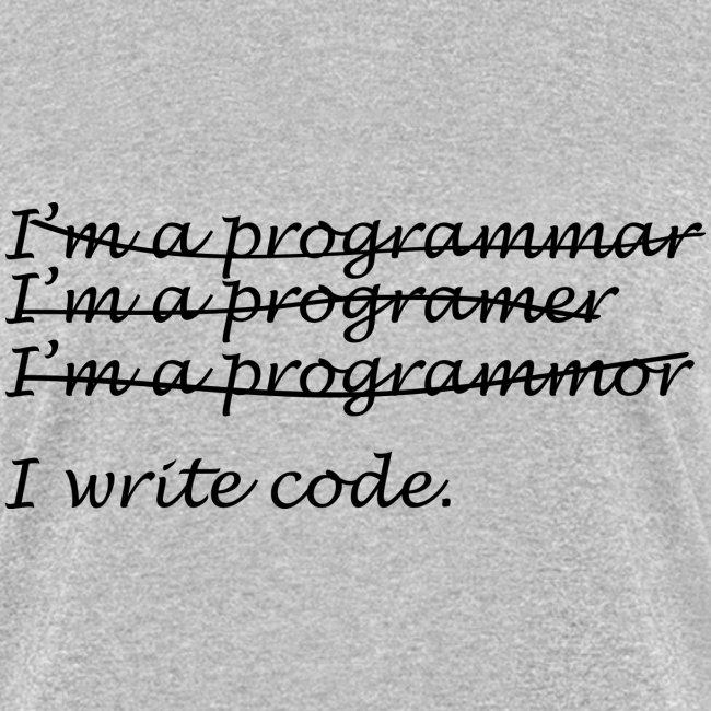 I'm a programmer (F)