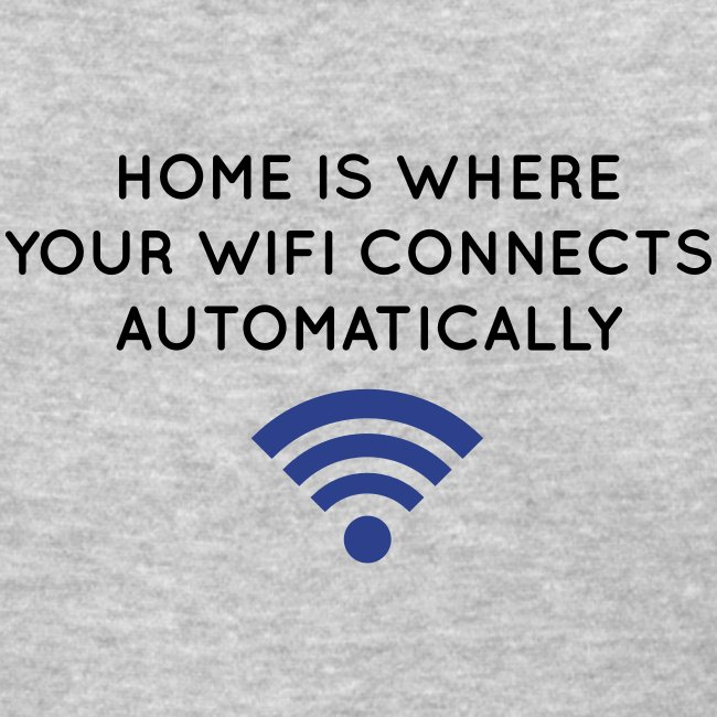 Home is where your WIFI connects automatically (F)
