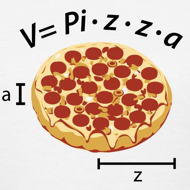 Volume of pizza (F)