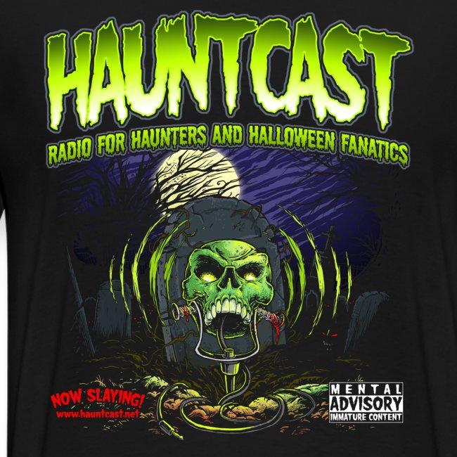 Hauntcast T - Logo on back