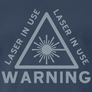 Laser Warning T-Shirts - Men's Premium T-Shirt