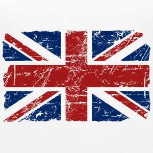 Union Jack Flag - Vintage Look Tanks - Women's Premium Tank Top
