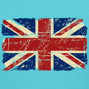 Union Jack Flag - Vintage Look Women's T-Shirts - Women's V-Neck T-Shirt
