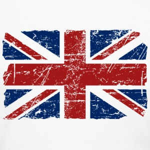 Union Jack Flag - Vintage Look Long Sleeve Shirts - Women's Long Sleeve Jersey T-Shirt