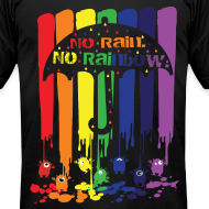 Design ~ no rain no rainbow Men's T-Shirt by American Apparel