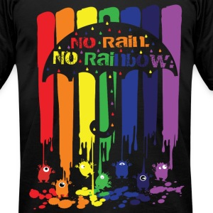 no rain no rainbow Men's T-Shirt by American Appar - Men's T-Shirt by American Apparel