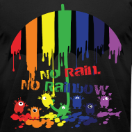 Design ~ Rainbow monsters Men's T-Shirt by American Apparel