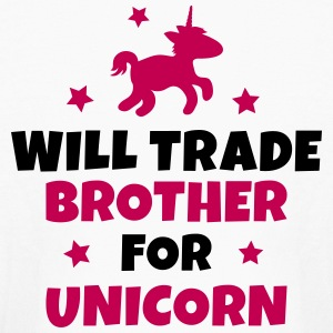 Will trade brother for unicorn Kids' Shirts - Kids' Long Sleeve T-Shirt