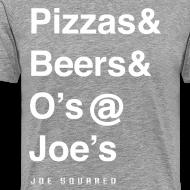 Design ~ pizzas&beers&joe's men's grey
