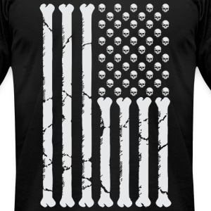 American Skulls & Bones T-Shirts - Men's T-Shirt by American Apparel