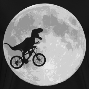 dino bike moon - Men's Premium T-Shirt