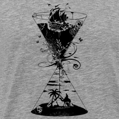surreal hourglass -ocean and desert- T-Shirts
