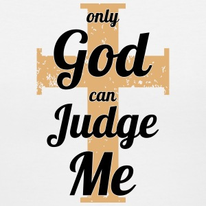 Vintage Only God Can Judge Me Women's T-Shirts - Women's V-Neck T-Shirt