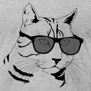 Cool Cat Design T-Shirts - Men's T-Shirt by American Apparel