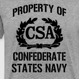 Property Confederate Navy V1 - Men's Premium T-Shirt