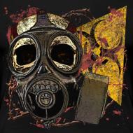 Design ~ Biohazard Skull Gas Mask Womens Premium T
