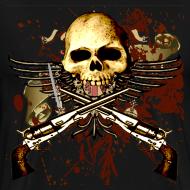Design ~ Sixgun Skull Mens T Shirt