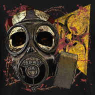 Design ~ Biohazard Skull Gas Mask Mens Premium T
