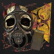 Design ~ Biohazard Skull Gas Mask Mens Premium Tank Top