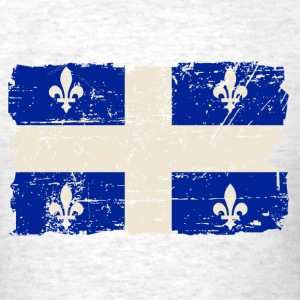 Quebec Flag - Vintage Look T-Shirts - Men's T-Shirt